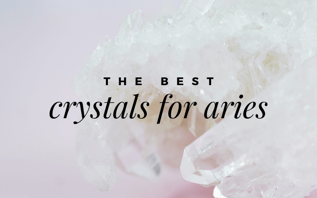 image with text overlay that reads: the best crystals for aries