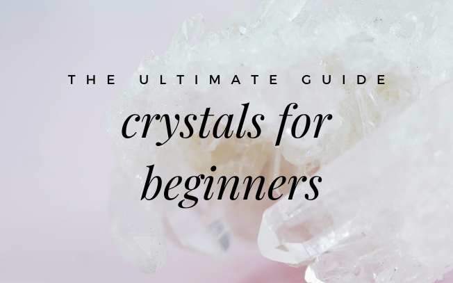 image with text overlay: the ultimate guide, crystals for beginners.