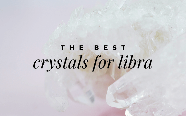 image with text that reads: the best crystals for libra