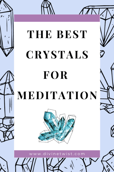 image with text overlay: the best crystals for meditation