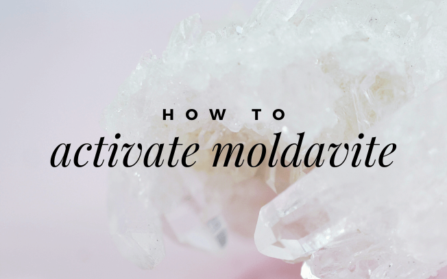 Image with text overlay: how to activate moldavite.