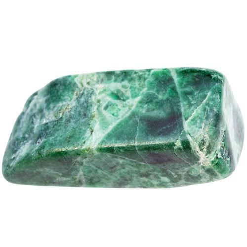 Polished green jade stone