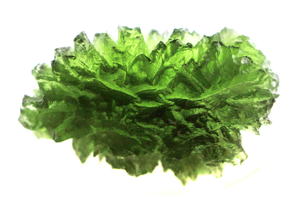 A green crystal.