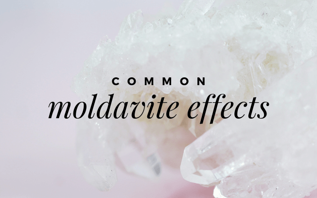 image with text overlay: common moldavite effects.