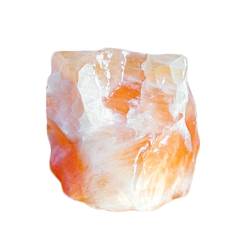Orange and white crystal stone