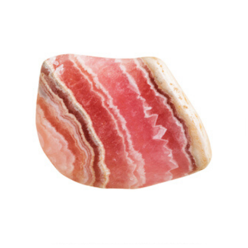 A peach striped gemstone