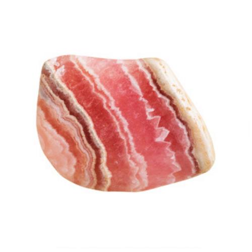 A peach striped gemstone