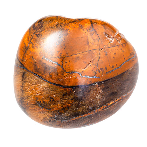 Orange and brown gemstone